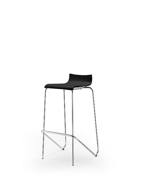 aticon barstool | black stained shell