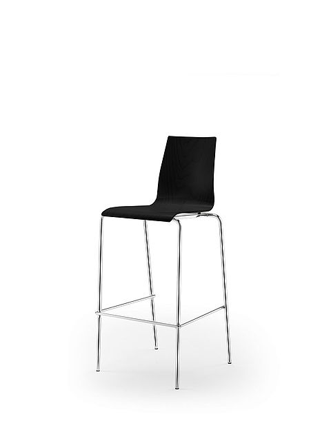 garcia barstool | black stained shell