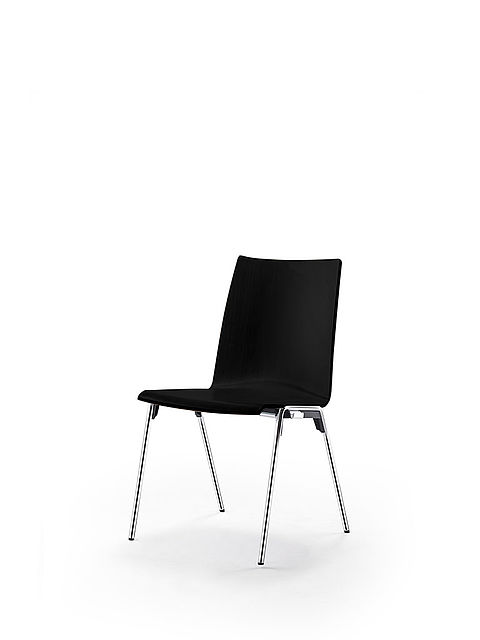 logochair four-legged chair | black stained shell
