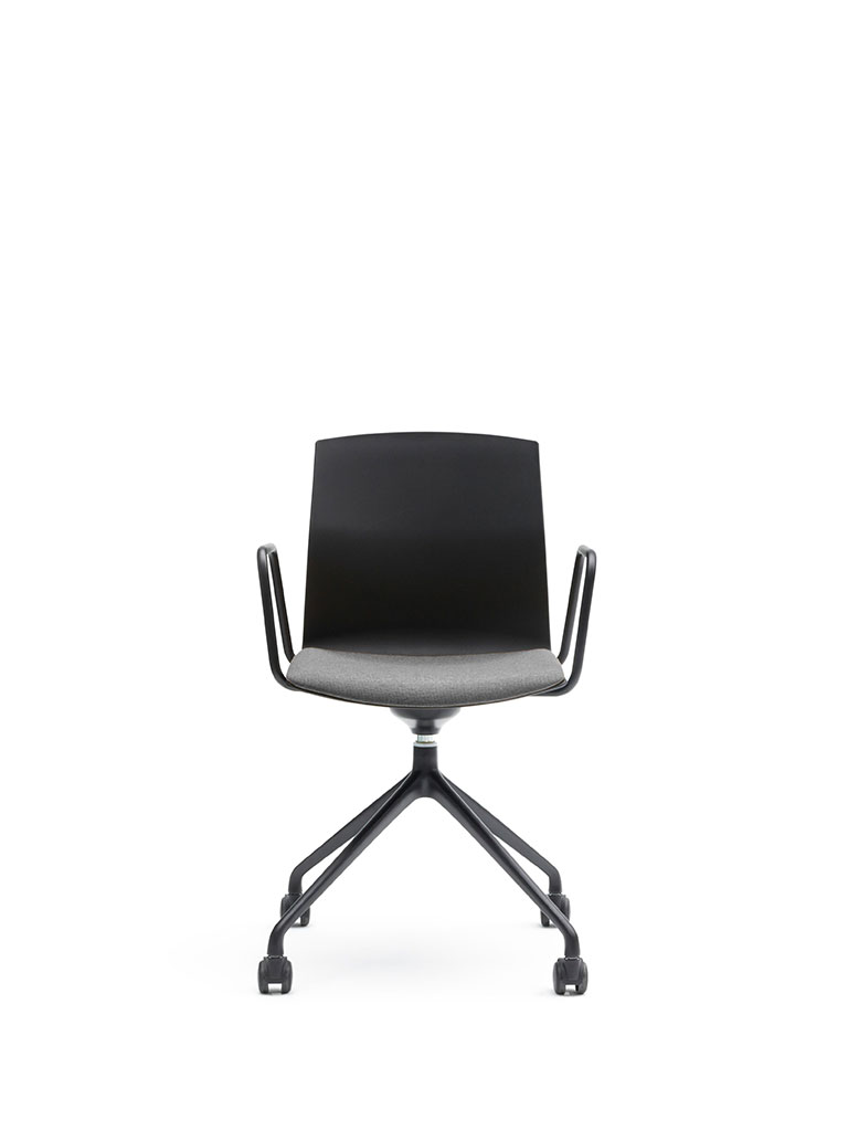 Kabi Swivel by AKABA | swivel chair with castors | armrests | upholstered seat