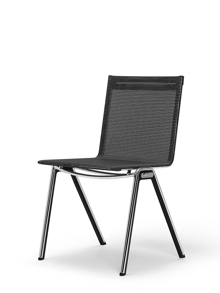 BLAQ chair | continuous seat and back | basalt black