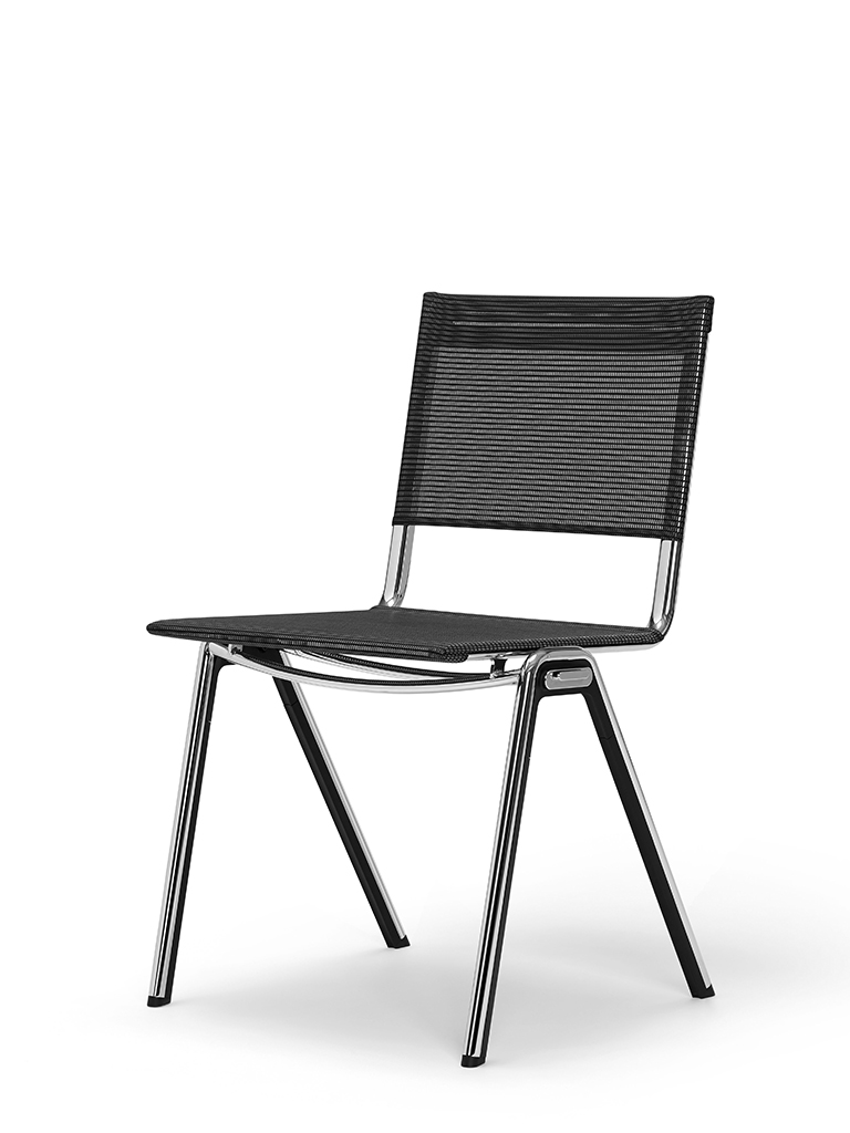 BLAQ chair | divided seat and back | basalt black