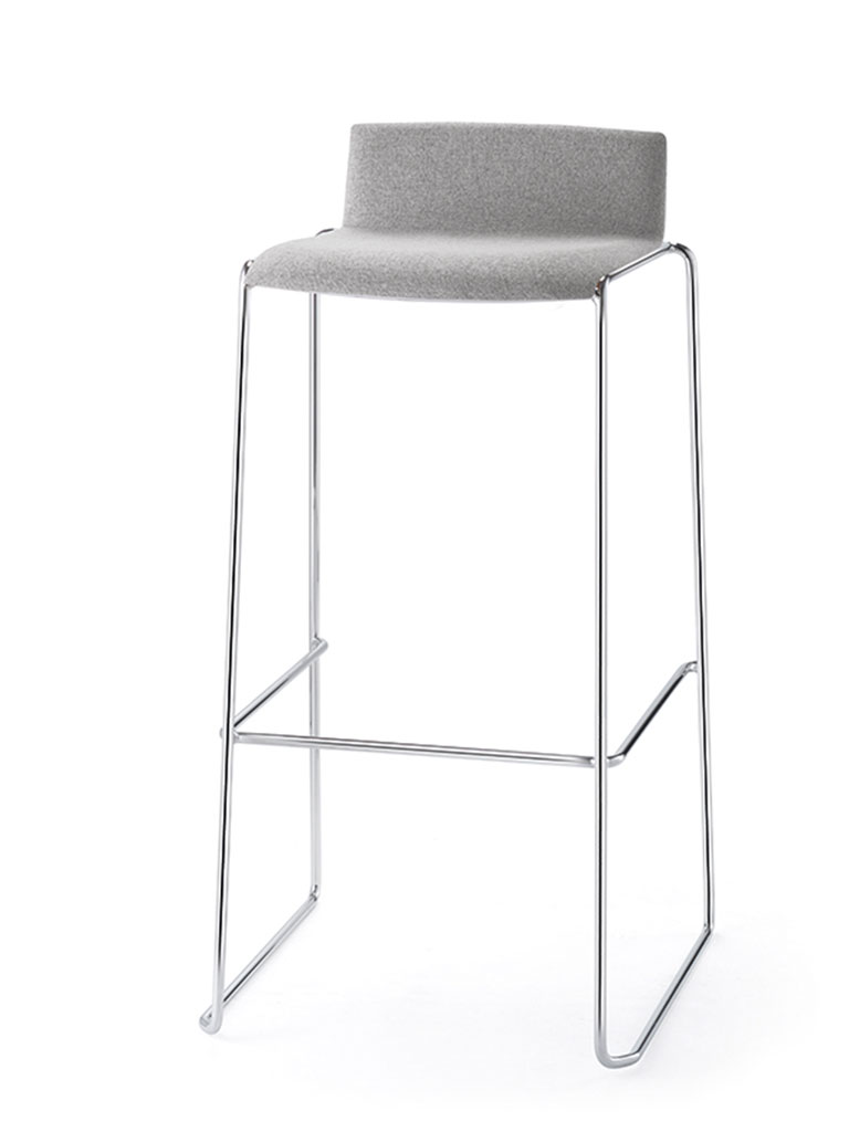 Eless barstool | fully upholstered