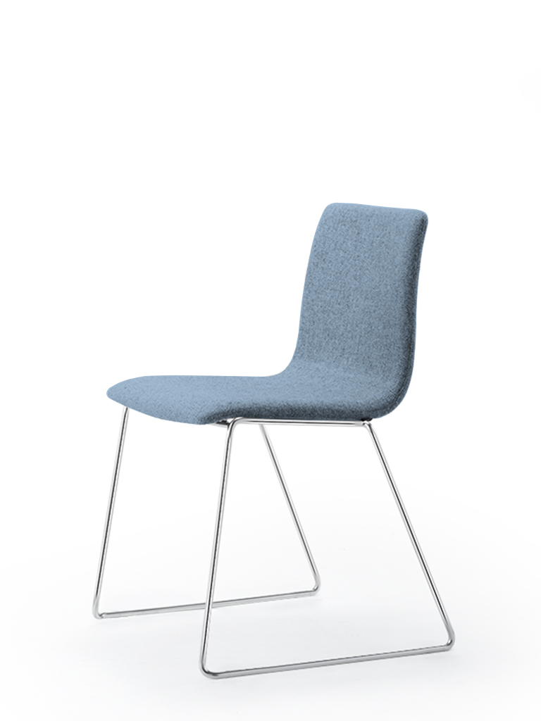 Eless s172 | skid-base chair | blue upholstery