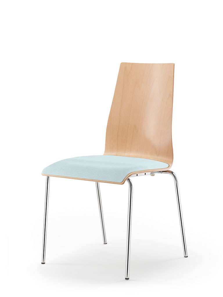 garcia | four-legged chair | upholstered seat