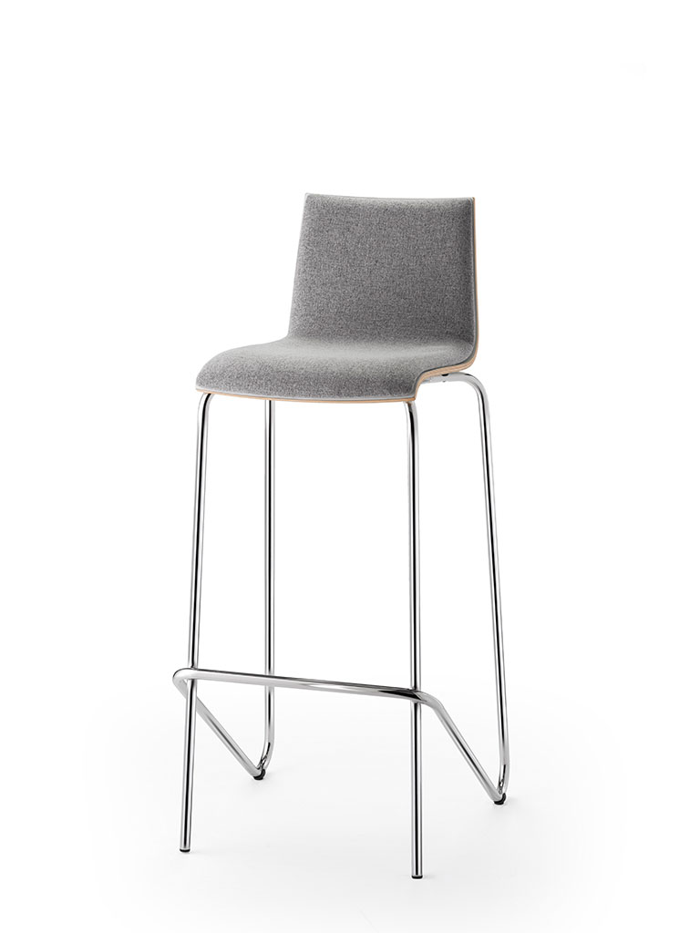 logochair | barstool | fully upholstered front