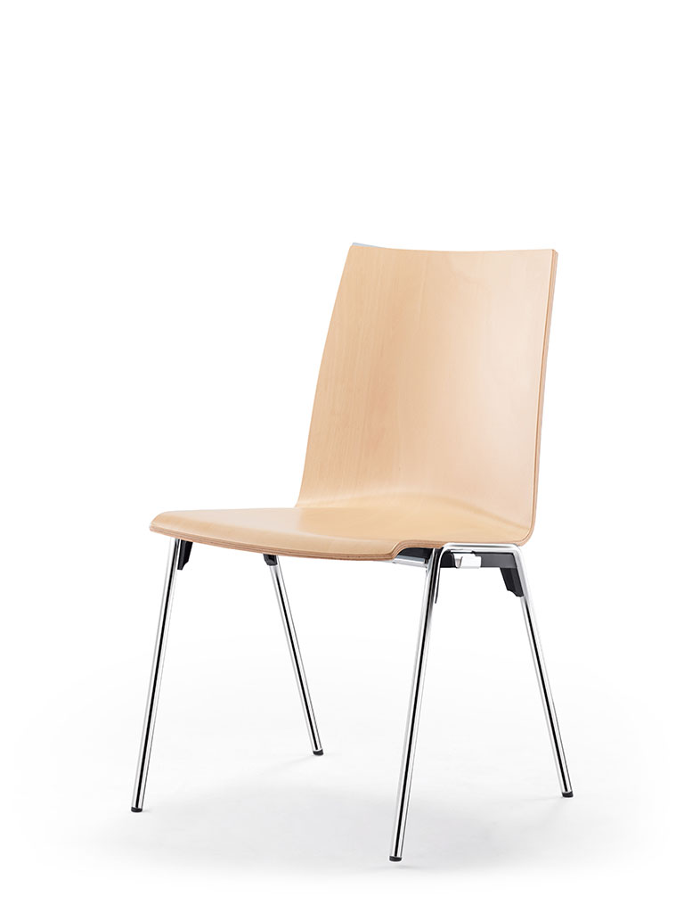 logochair four-legged chair | beech