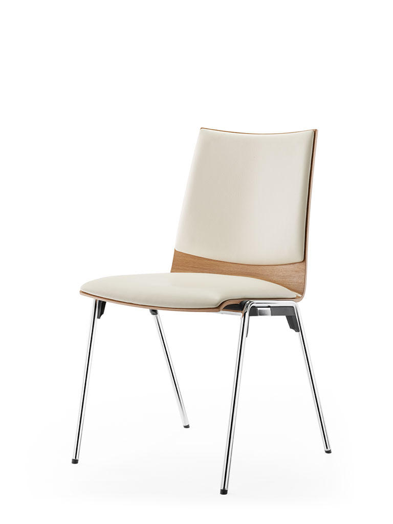 logochair four-legged chair | upholstered seat and backrest