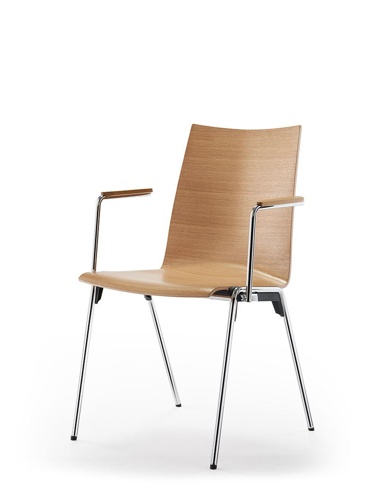 logochair four-legged chair | oak | not upholstered