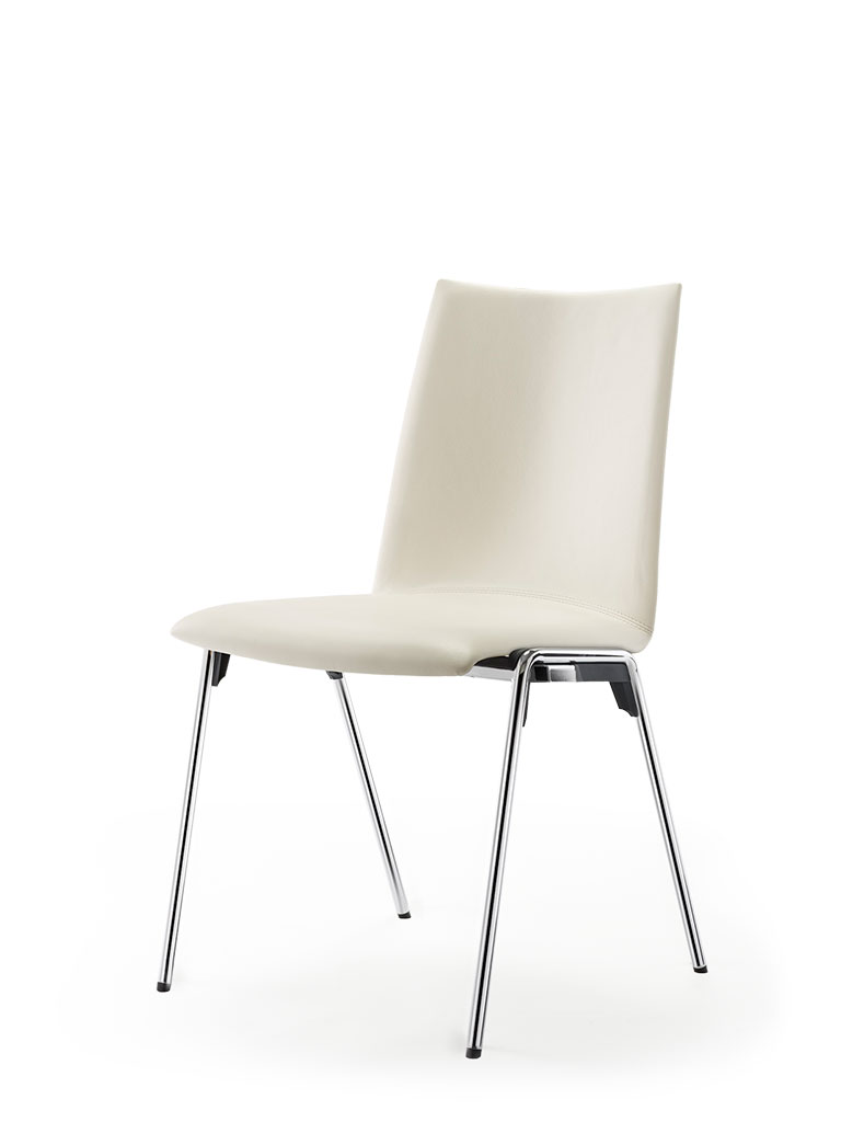 logochair four-legged chair | fully upholstered