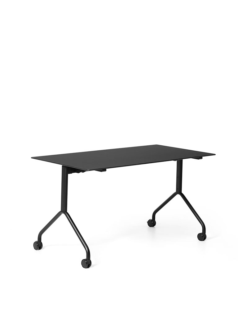 FX table flip top table | black powder-coated frame fine structured