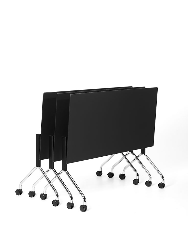 FX table flip top table | frame black powder-coated, partly chrome-plated