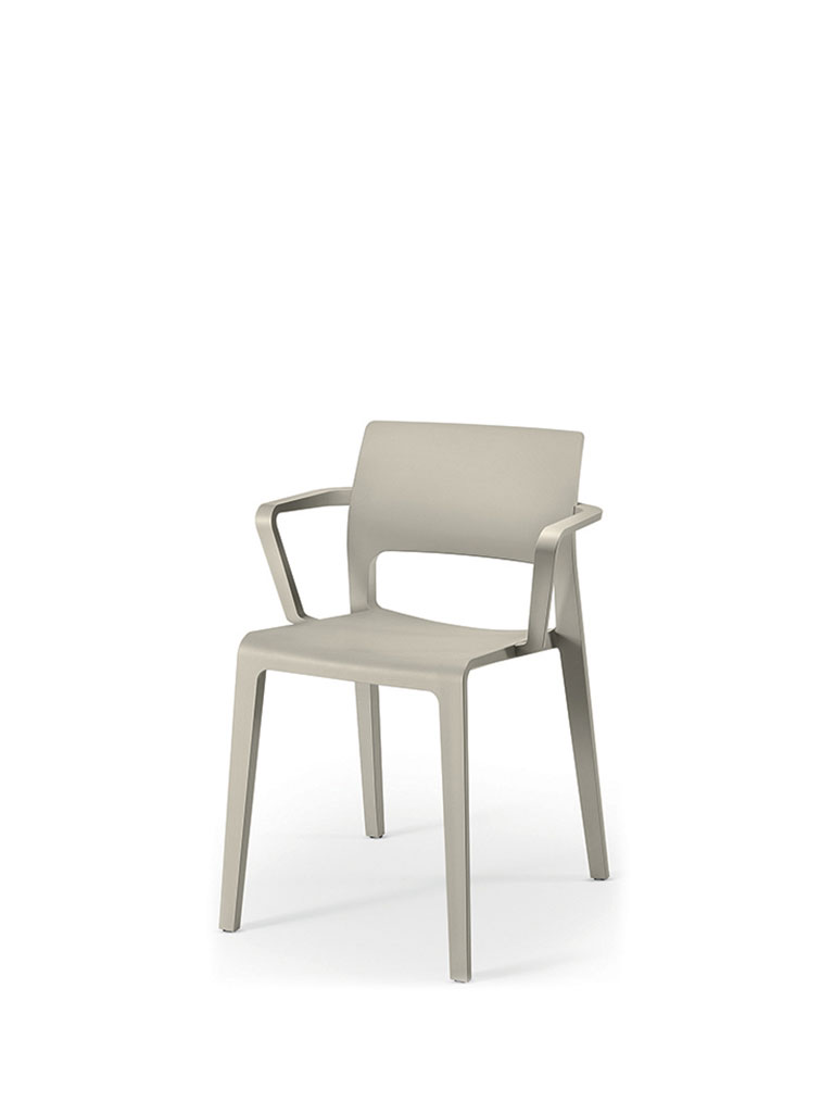 Juno by Arper | gray | open backrest | armrests
