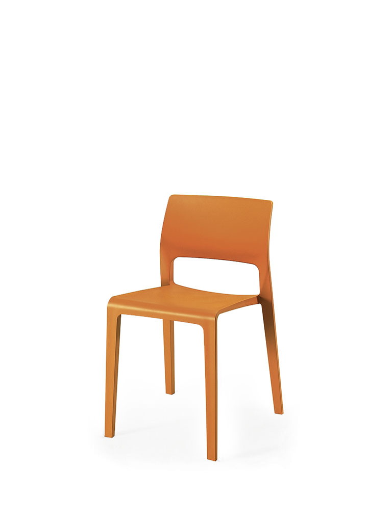 Juno by Arper | orange | open backrest