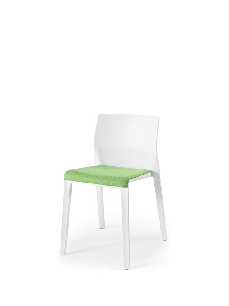 Juno by Arper | white | upholstered seat | closed backrest