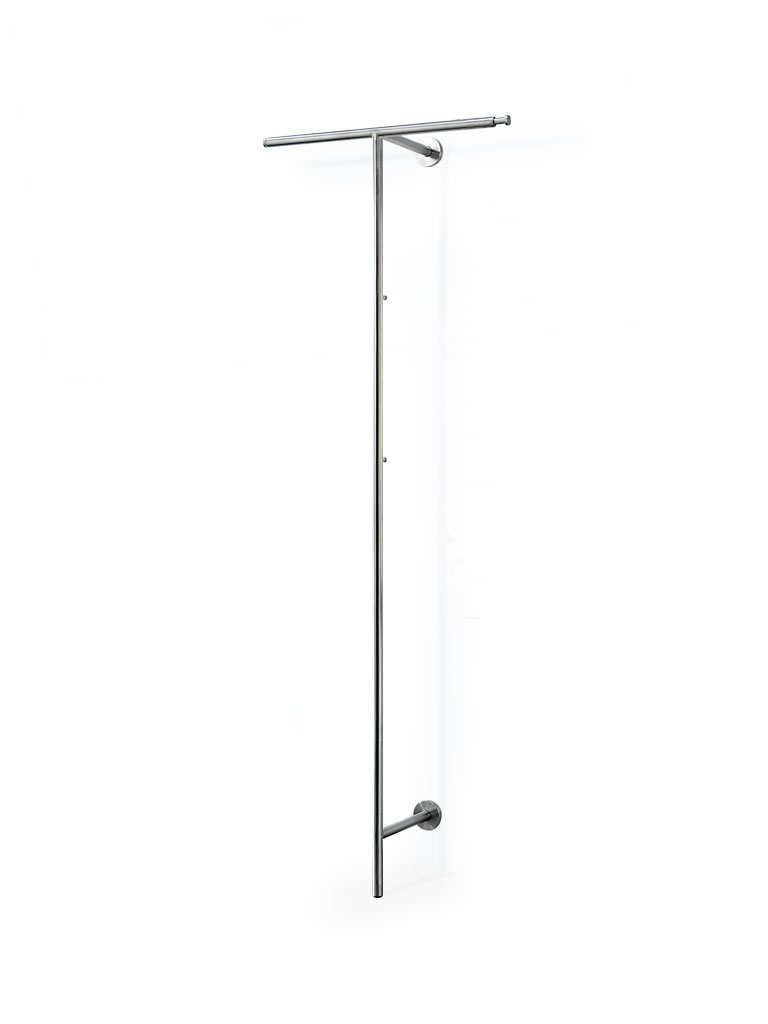 wall-mounted coat rack LINA TT with telescopic rods on both sides