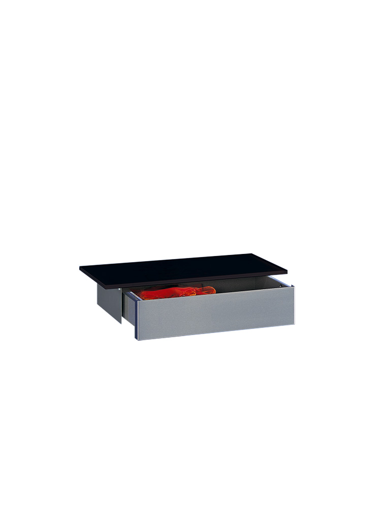 D-TEC | MISS T | wall shelf | drawer | file black | 541-ea