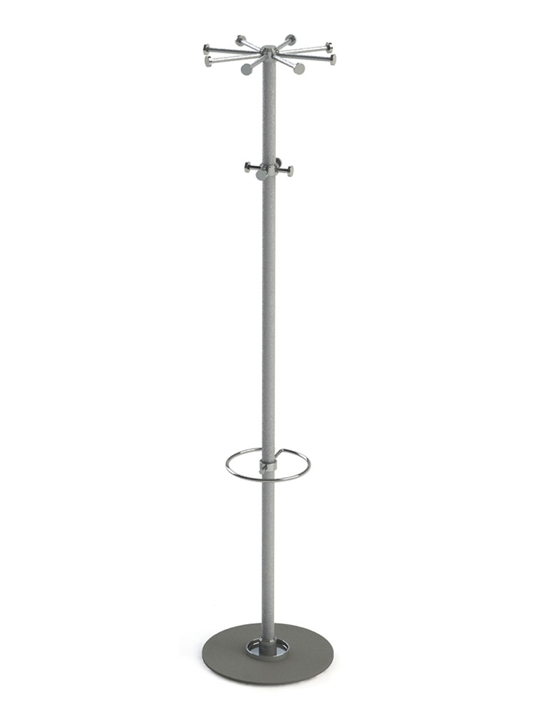 D-TEC | SPINNING WHEEL 3 | silver powder-coated | 603-dsi | with hook ring and umbrella holder