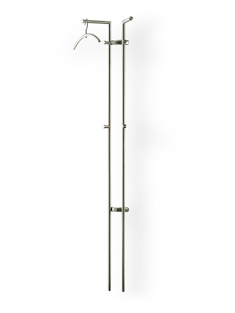 D-TEC | STAG 2 | wall-mounted coat rack | stainless steel | 872-e1