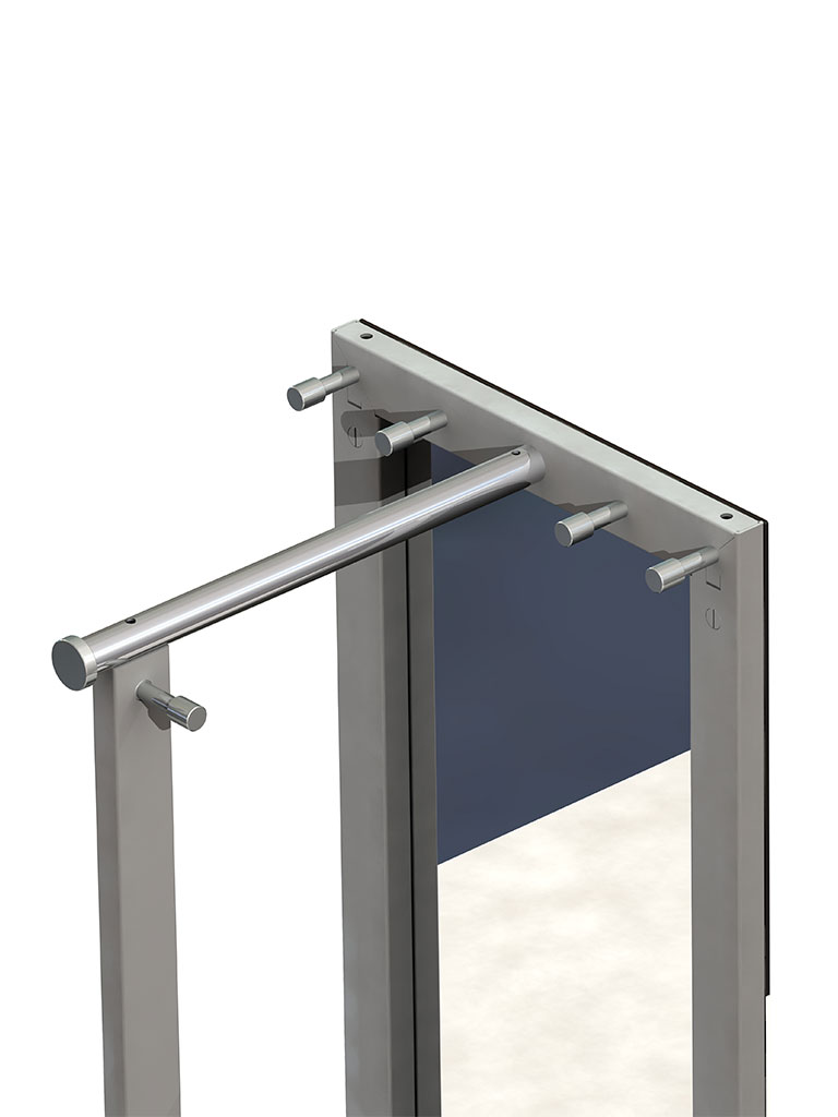 D-TEC | TOP | TSR 33 | stand mirror with coat rail and hooks | rear view: hooks and coat rail