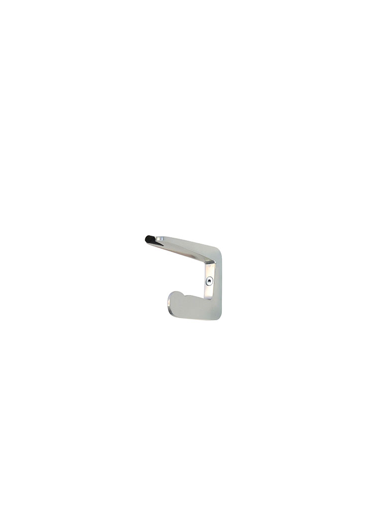 Iserlohner Haken | hooks from Iserlohn | 8er | with door stopper | 570510 | aluminum | silver anodised