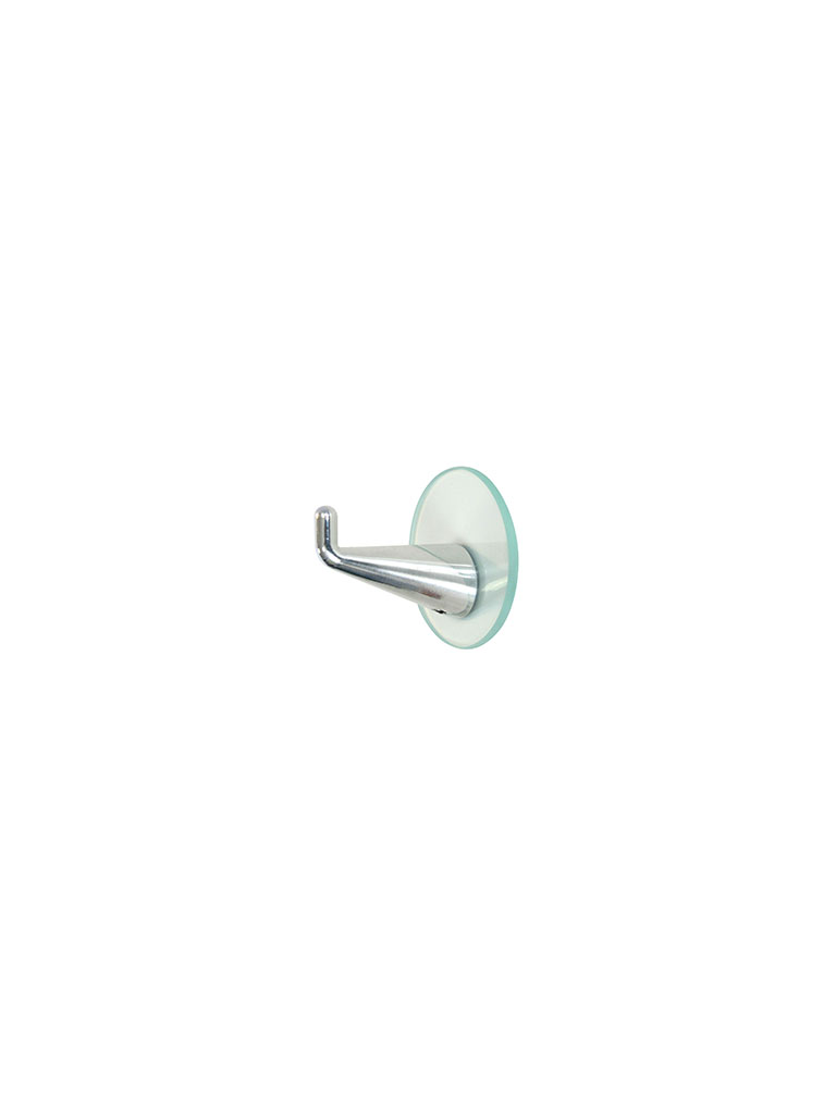 Iserlohner Haken | hooks from Iserlohn | up | with glass plate | 570800 | aluminum | natural, polished